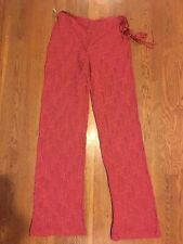 COOGI AUSTRALIA KNIT 100% SILK WOMENS PANTS WITH EMBROIDERY GORGEOUS SMALL