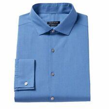 Van Heusen Dress Shirt Men's Blue 18.5 36/37 Slim Fit Wrinkle Free New