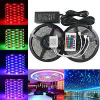 10M=2X5M 3528 LED SMD RGB Leiste Strip Streifen Band + Fernbedienung + Netzteil