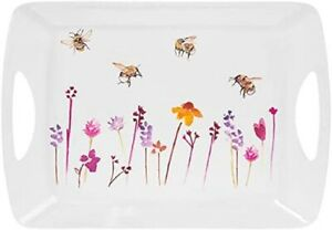Busy Bees Melamine Tray Small Medium Large with Handles Tea Coffee