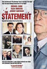 The Statement (DVD, 2004) Michael Caine-ORIGINAL DVD-NO CASE NO PAPER INSERT