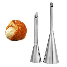 2pcs Icing Piping Nozzle Tips Beak Pastry Puff Cake Cream Injector Baking Tool