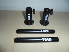 """2 x Anodized Aluminium Stage stands with locking nuts, with 2 x 4"""" inserts. Carp"""