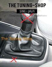 FITS VW GOLF 4 MK4 & JETTA BLACK REAL LEATHER SHIFT BOOT NEW