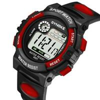 Fashion Students Sports Date Digital Watch Kids Girls Boys Waterproof Wristwatch