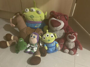 Disney Toy Story Plush Official Bundle - Lotso Alien Bullseye Buzz Rex