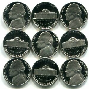 Full Roll of 40 GEM PROOF CAMEO 1981-S Jefferson Nickels - Free Shipping