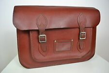 VINTAGE 1960s ENGLISH MADE BROWN LEATHER SATCHEL BAG BRIEFCASE