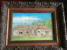 Mixed Media On Board Painting A Bungalow Probably Swansea Or Gower Wales by KWH