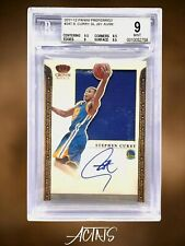 2011 Panini Preferred Crown Royale STEPHEN CURRY JERSEY AUTO 08/99 BGS 9 RARE