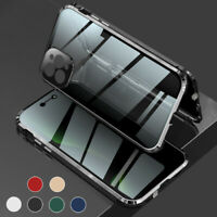 360°Magnetic Tempered Glass Case Anti Spy Privacy Cover For iPhone 12 11 Pro Max