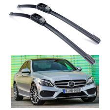 2Pcs Bracketless Car Wiper Blade Windscreen for 2015-2018 Mercedes-Benz C-Class