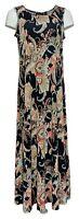 Attitudes by Renee Petite Dress PM Sleeveless Printed Maxi Style Black A375422