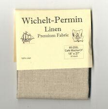 Wichelt Permin Premium Linen Fabric 32 Ct Cross Stitch 18 X 27 Cafe Mocha
