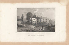 Print from old book of J J Rousseau Cottage Montmorency by Herrman Myer New York