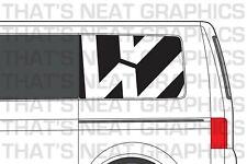 VW Transporter Camper T5 T6 Van Graphics Rear Panel Stickers - SWB