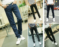 NEW Mens Black Blue Acid Skinny Slim Fit Stretch Jeans Punk Denim Trousers Pants