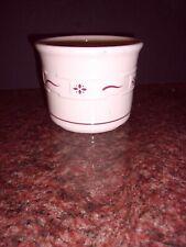 Longaberger Pottery Woven Traditions Salt Crock - No Coaster One Pint Usa