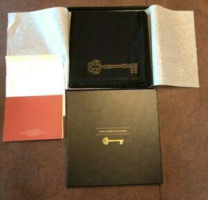 NIB Park Hyatt Hotel Formal Black & Gold Threaded Boxed Scarf Shawl Made France