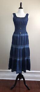 Blue Lapis Women's Denim Dress Size L