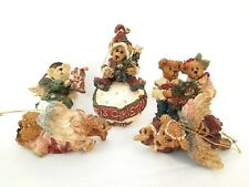 Lot (5) Boyds Bears Bearstone Collection Ornament with Boxes- Baby's Christmas