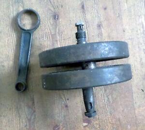 BSA Sloper OHV CRANKSHAFT with conrod oil pump worm and nuts KURBELWELLE