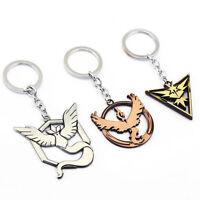 Pokemon Go Team Valor Mystic Instinct Alloy Key Chain Vintage Key Ring Keyring