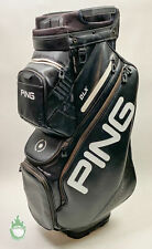 Used Ping Golf DLX Staff Bag 14-Way Divided Black Strap & Rainhood Included