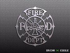 FIRE DEPARTMENT #2 -- Firefighter Fireman Wall Art Metal Plasma Cut Sign Gift