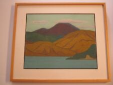 CHINESE PAINTING SIGNED ABSTRACT EXPRESSIONISM LANDSCAPE  MODERNISM VINTAGE