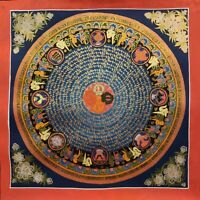 Genuine HandPainted Tibetan Mantra Mandala thangka Painting Meditation Buddha 3