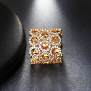 Elegant Design Rose Gold Infinity Style made with CZ Pave Fashion Ring Size 7