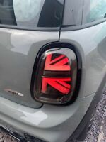 MINI F55 F56 F57 GLOSS BLACK TAIL LIGHT REPLACEMENT TRIMS COOPER S JCW ONE