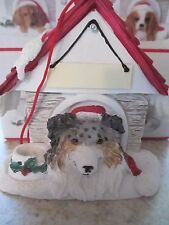Australian Shepherd Dog ~ Doghouse Ornament ~ #53
