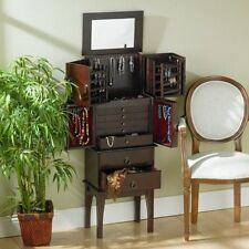 'Southern Enterprises Well Organized Cherry Jewelry Armoire GA1443 NEW' from the web at 'https://i.ebayimg.com/thumbs/images/g/~UYAAOSwKrhVXvHe/s-l225.jpg'