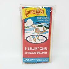 Vintage VENUS LAURENTIEN Canada Colored Pencil Crayons 1 - 24 MADE IN CANADA