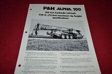 P&H Alpha 100 Crane Dealers Brochure DCPA2
