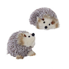 Brown & White Hedgehog Ornaments
