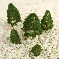 5Pcs Green Trees Model Train Railway Wargame Diorama Park Scenery Layout HO N Z