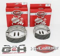 FRONT & REAR WATER GROOVED Brake Shoes +Springs Kawasaki KLT 110 160 185 200 250