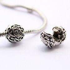 1 of Silver Plated Flower Safety Stopper Beads For Bracelets DIY Making  LI