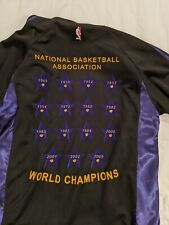 Adidas Lakers Anniversary Edition 2009 Championship Jacket XL Black rare