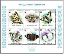 Kazakhstan 2019. Souvenir sheet. Butterflies of Kazakhstan. NEW!!!