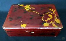 Antique Oriental Lacquered Box For Restoration 28cm Long   FREE Delivery UK*
