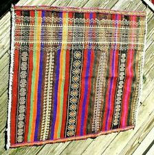 "Tribal hand woven wool flat weave 36' x 32 "" rug mat nomad"
