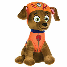 "NEW OFFICIAL 12"" PAW PATROL SITTING ZUMA PUP PLUSH SOFT TOY NICKELODEON DOGS"