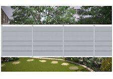 Komplett-Set für 10,90 Meter WPC Steckzaun Sichtschutz Zaun XL Farbe grau