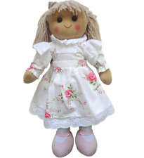 Personalised Rag Doll Any Name or Message - Floral Dress 40cm - FAST DISPATCH!
