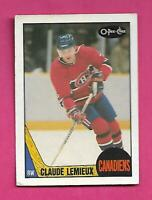 1987-88 OPC  # 227 CANADIENS CLAUDE LEMIEUX ROOKIE GOOD CARD (INV# C4460)