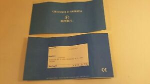 BREIL-CERTIFICATO GARANZIA  - USATO - 4 +